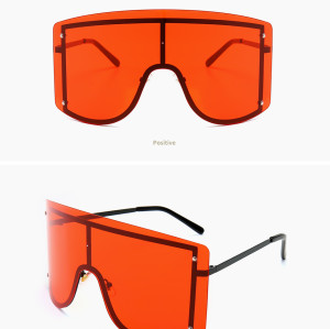 Newest Big Frame Women Men Sunglasses Oversized Wholesale Retro Rimless Shades Sunglasses