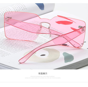 Vintage Transparent Conjoined Ocean Lenses Square Personal Wholesale USA Hot UV400 Sunglasses