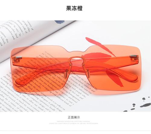 Vintage Transparent Conjoined Ocean Lenses Square Personal Wholesale USA Hot UV400 Sunglasses