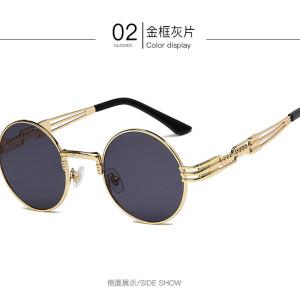 Steampunk Sunglasses Round Designer Metal Women Coating Men Retro Sunglasses