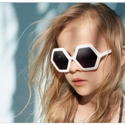 2020 wholesale low price hexagon hight quality trending kids sunglasses
