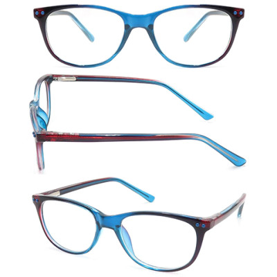 Teenagers CP optical frame with metal spring hinge