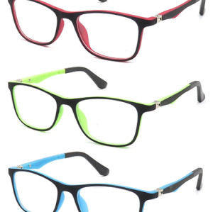 kids TR90  optical frame with 180 degree spring hinge