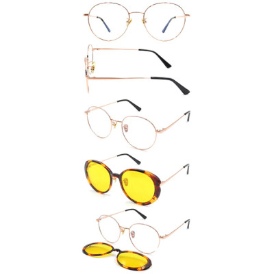 Fashion metal clip on sunglasses hot selling new style unisex style