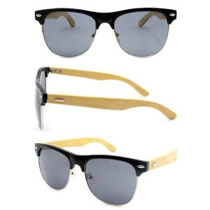 Fashion fake wood PC sunglasses with metal spring hinge cheap sunglasses