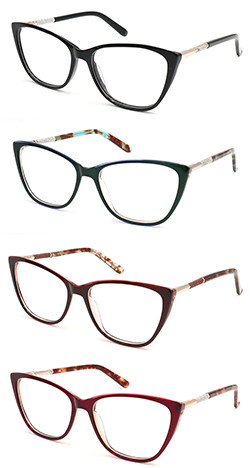 Acetate hot selling  optical frame with diamond decoration