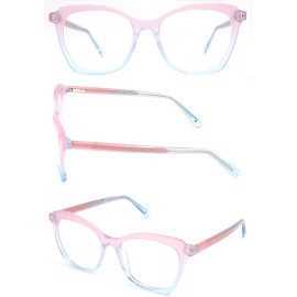 Acetate new model  progressive color optical frame with diamond decoration