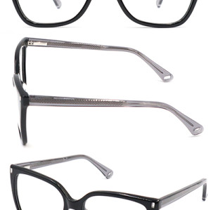 Big size frame Acetate new model optical frame with beautiful pin