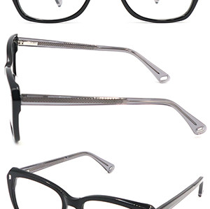 Big size frame Acetate  optical frame with metal spring hinge