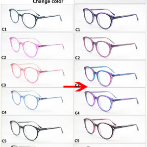 New model Kids color changing acetate optical frame glasses