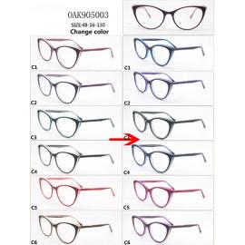 New model Kids color changing acetate optical frame glasses