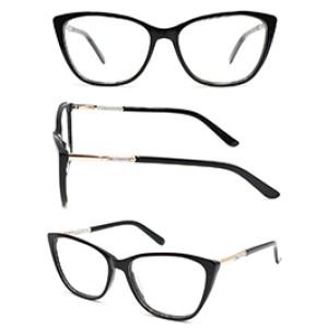 New model cat eye women acetate optical frame glasses