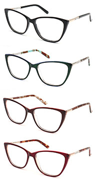 New model cat eye women acetate optical frame glasses