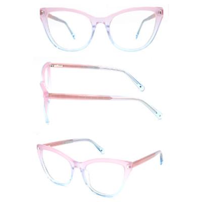 New model cat eye progressive clear women acetate optical frame glasses