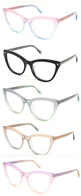 New model cat eye progressive clear women acetate optical frame glasses