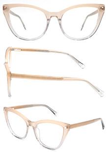Hot sale cat eye progressive clear women acetate optical frame glasses