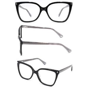Hot selling cat eye black acetate optical frame glasses for women