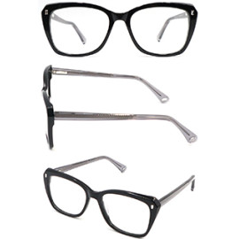 Hot selling black acetate optical frame glasses for women and girl