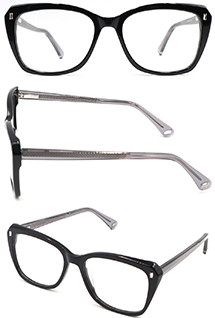 Hot selling black acetate optical frame glasses for women and girl