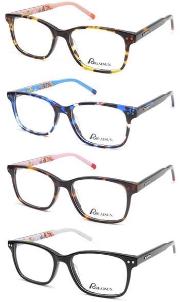 demi  Kids acetate optical frame glasses with metal spring hinge