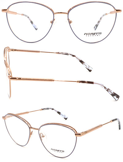 ROund shape adult metal   optical frame with acetate temple