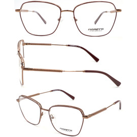 special shape adult metal   optical frame with acetate temple