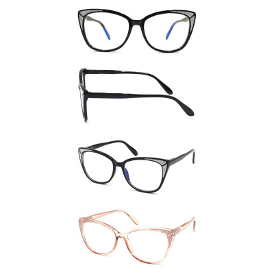 Round shape Best selling reading glasses with plastic spring hinge