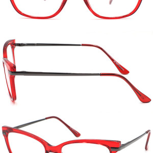 PC fashion  reading glasses with metal temple