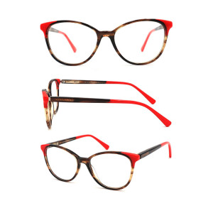 Best selling acetate optical frame with conbination material