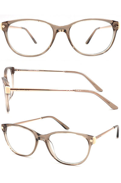 New arrival acetate optical frame with metal temple