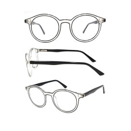 New arrival cp optical frame with plastic spring hinge