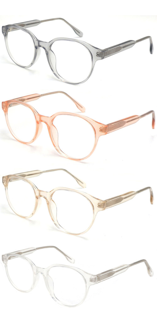 Wholesale 2021 New Adult Acetate Injection Optical Frame With Metal Spring Hinge Transparent Color Series