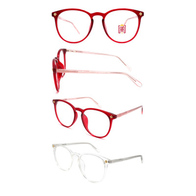 Wholesale 2021 New Model Adult Acetate Injection Optical Frame with Metal Spring Hinge