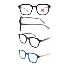 Wholesale 2021 New Adult Acetate Injection Optical Frame With Metal Spring Hinge