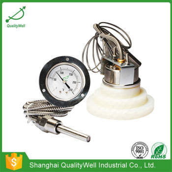 """2"""" back connection remote reading thermometer with top flange 200RF21121"""
