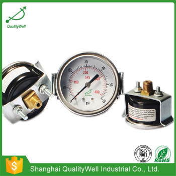 General pressure gauge with U-clamp EPG221H-U