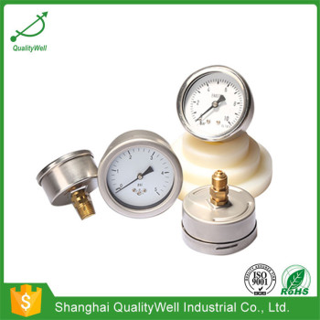 All stainless steel low pressure gauge LPG221H