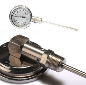 Bottom connection bimetal thermometer I series I300C