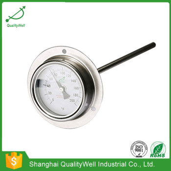 Bimetal thermometer with rear flange T221F