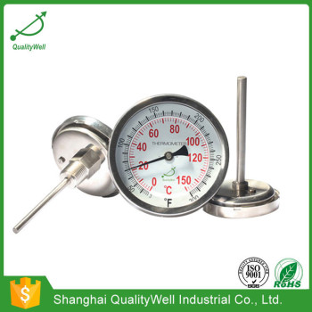 Back connection bimetal thermometer T series T300C