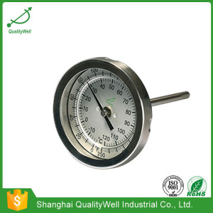 Back connection bimetal thermometer T series T300E