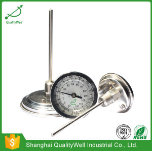 Back connection bimetal thermometer T series T400C