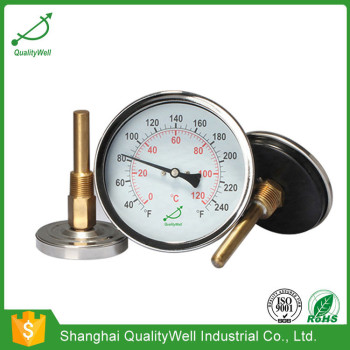 Back connection hot water bimetal thermometer HC series