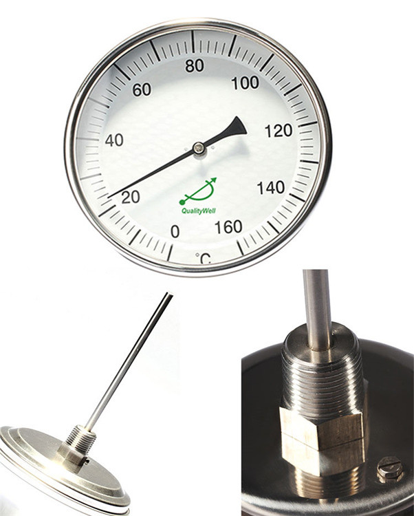 back connection bimetal thermometer T series T type