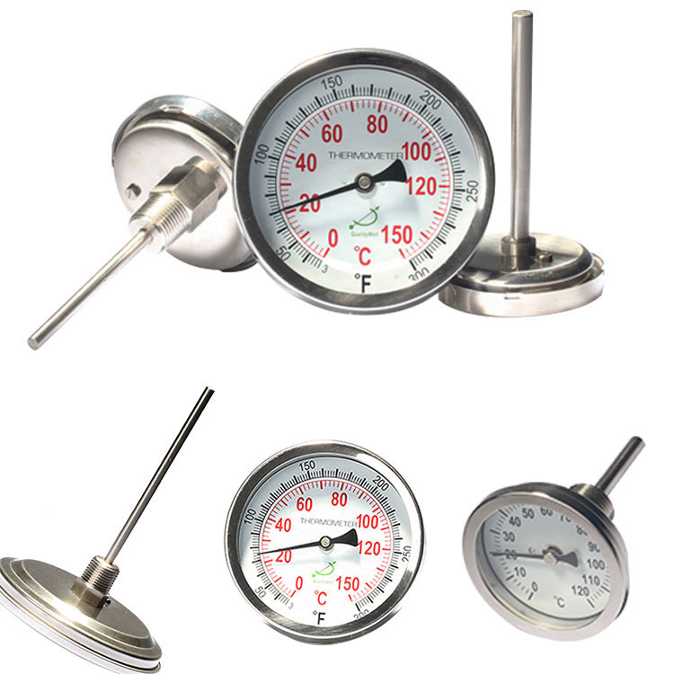back connection bimetal thermometer A series A type