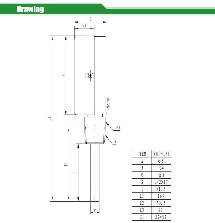 Tridicator-boiler gauge  WHT-13I