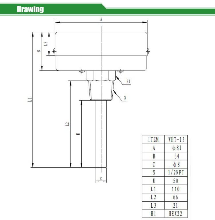 Tridicator-boiler gauge  WHT-13