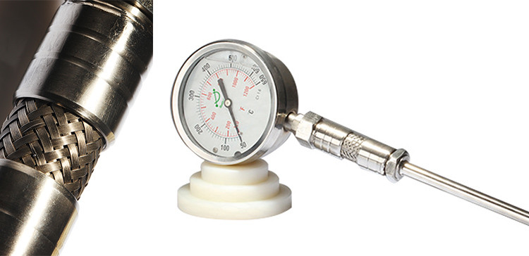 Bottom connection remote reading thermometer with rear flange 400RF12122