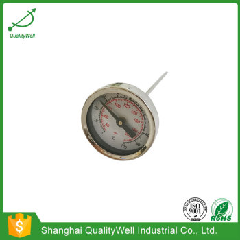 40mm diameter pocket bimetal thermometer with thread
