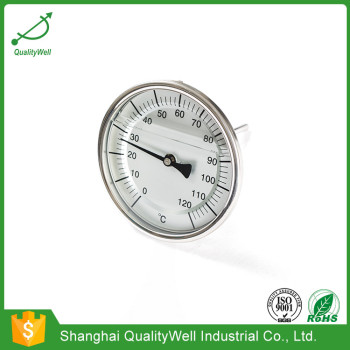 100mm dial oil filled bimetal thermometer